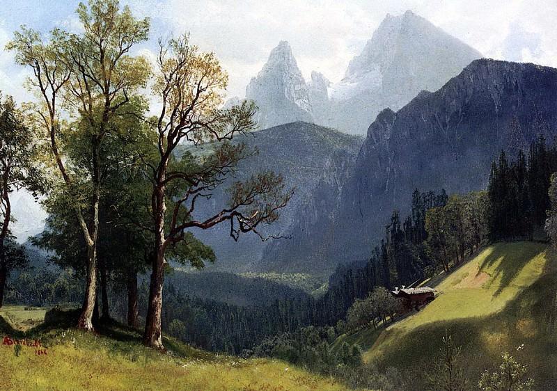 Bierstadt Albert Tyrolean Lansscape. Albert Bierstadt