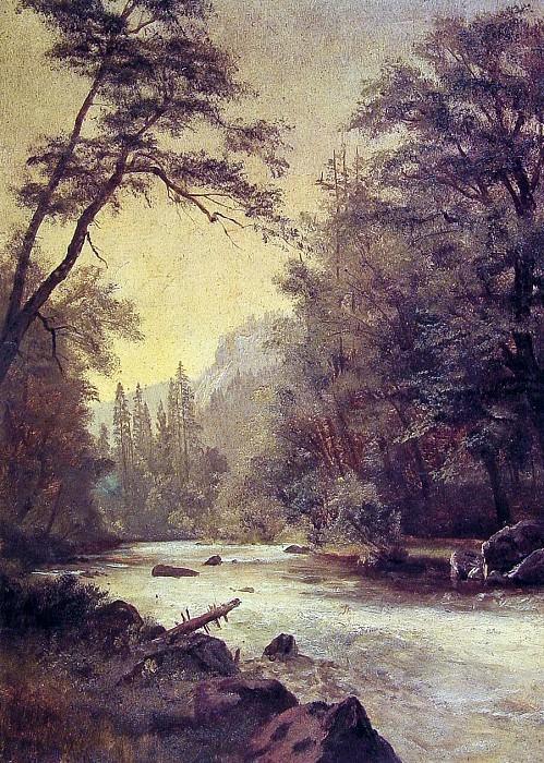 Lower Yosemite Valley. Albert Bierstadt