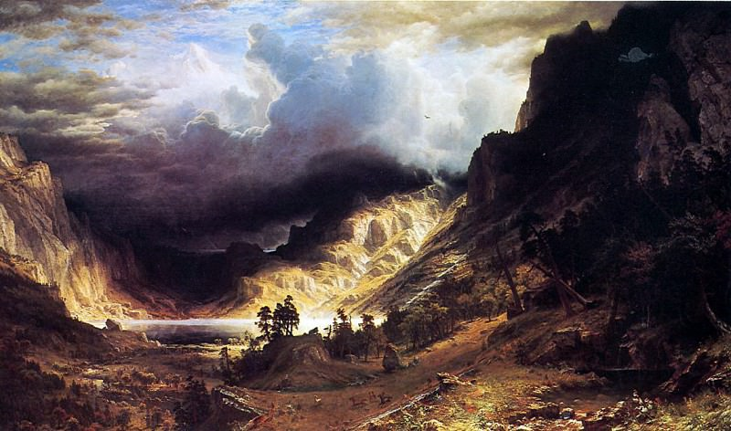 Bierstadt Albert A Storm in the Rocky Mountains Mr. Rosalie. Albert Bierstadt