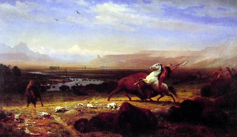 The Last of the Buffalo. Albert Bierstadt