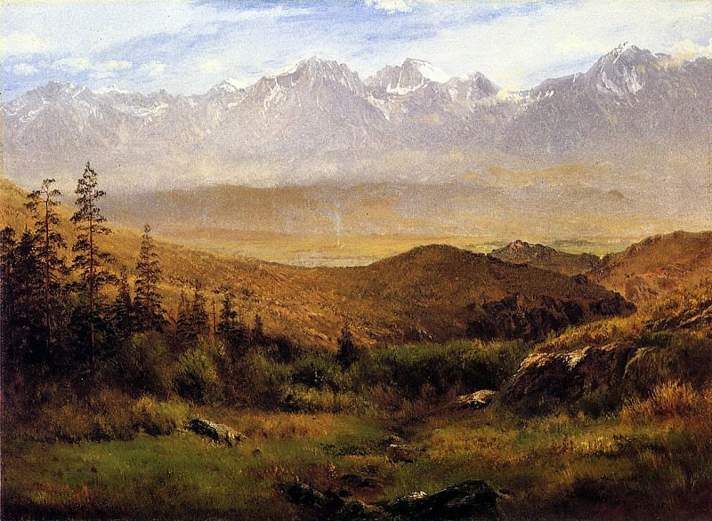 Bierstadt Albert In the Foothills of the Mountais. Albert Bierstadt