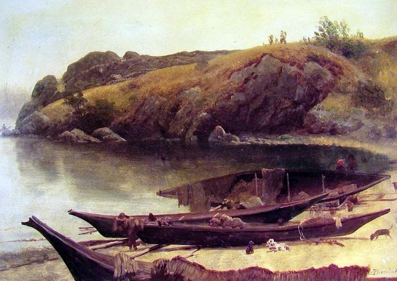 Canoes. Albert Bierstadt