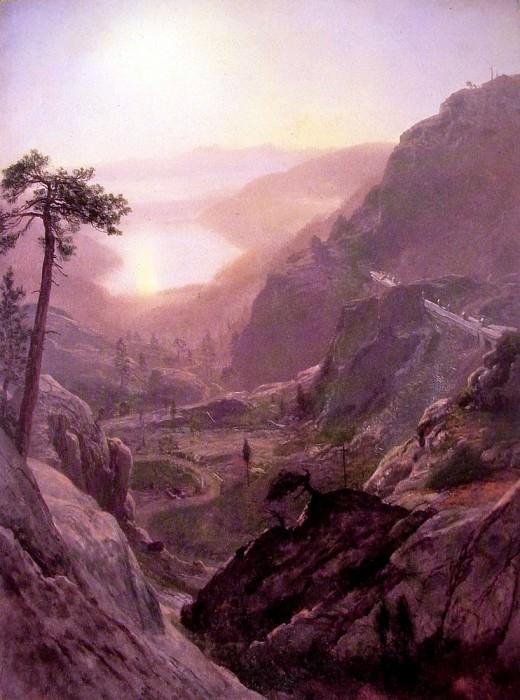 View of Donner Lake. Albert Bierstadt