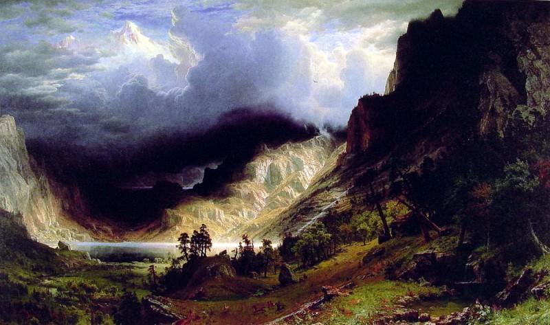 Storm in the Rocky Mountains. Albert Bierstadt