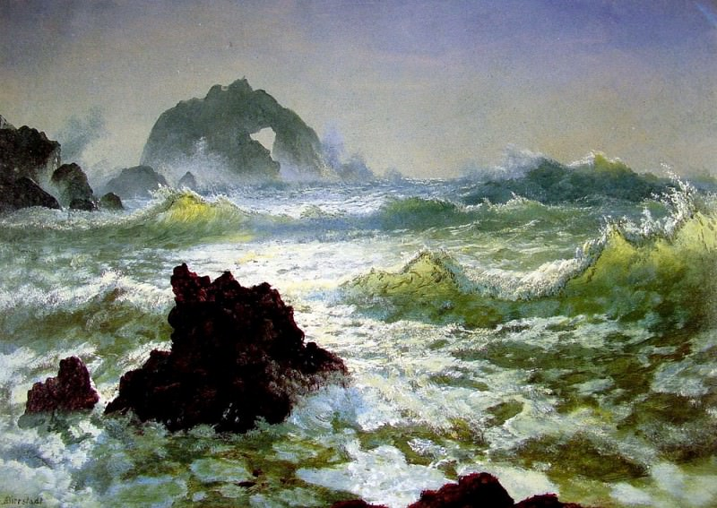 Seal Rock California. Albert Bierstadt