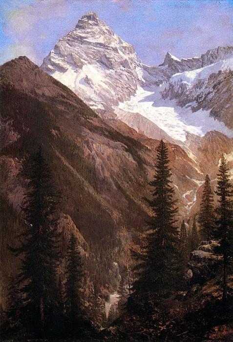 Bierstadt Albert Canadian Rockies Asulkan Glacier. Albert Bierstadt