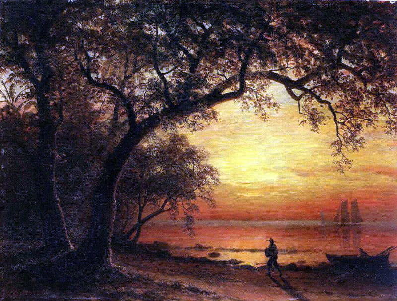 Bierstadt Albert Island of New Providence. Albert Bierstadt