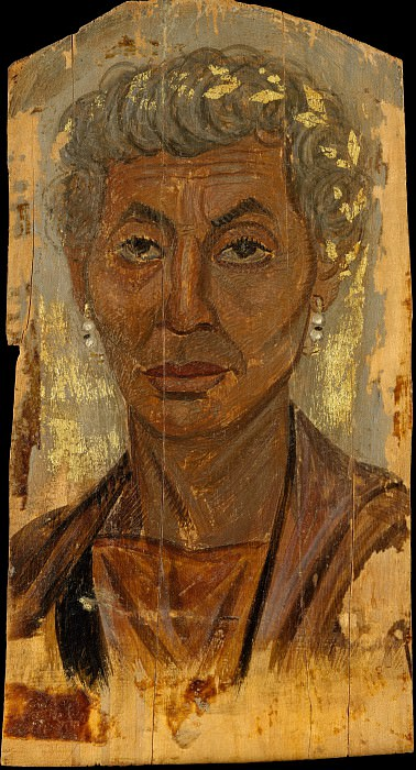 Unknown - Portrait of an elderly lady with a gold wreath. Metropolitan Museum: part 4