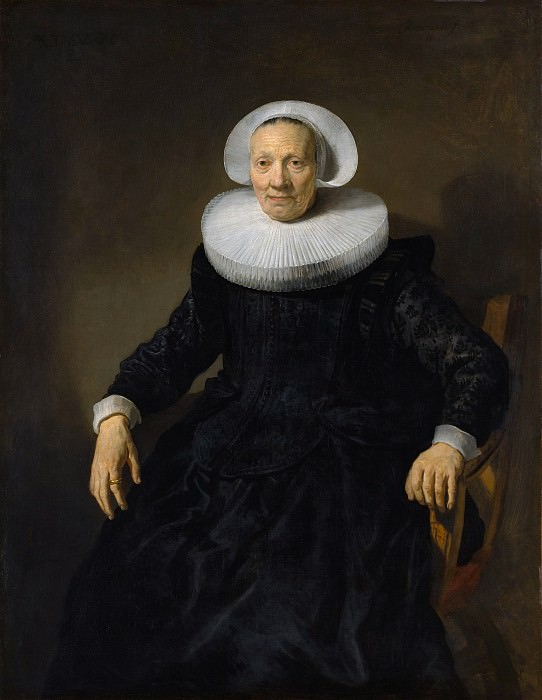 Attributed to Jacob Backer - Old Woman in an Armchair. Metropolitan Museum: part 4