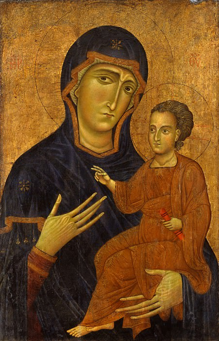 Berlinghiero - Madonna and Child. Metropolitan Museum: part 4
