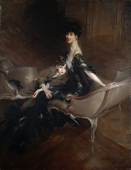 Giovanni Boldini - Consuelo Vanderbilt (1876–1964), Duchess of Marlborough, and Her Son, Lord Ivor Spencer-Churchill (1898–1956). Metropolitan Museum: part 4