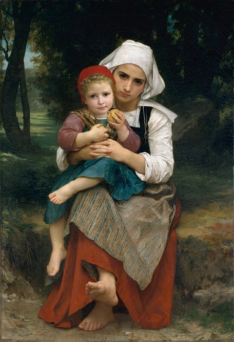 William Bouguereau - Breton Brother and Sister. Metropolitan Museum: part 4