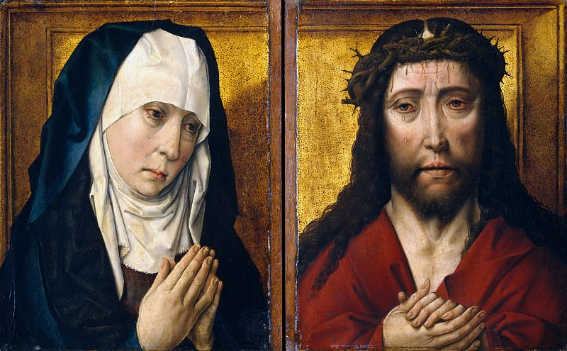 Copy after Dieric Bouts - The Mourning Virgin; The Man of Sorrows. Metropolitan Museum: part 4