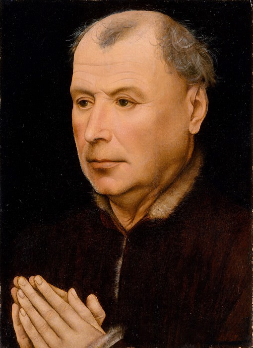 Workshop of Robert Campin - Man in Prayer. Metropolitan Museum: part 4