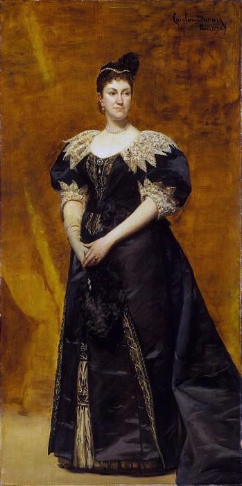 Charles-Émile-Auguste Carolus-Duran - Mrs. William Astor (Caroline Webster Schermerhorn, 1831–1908). Metropolitan Museum: part 4