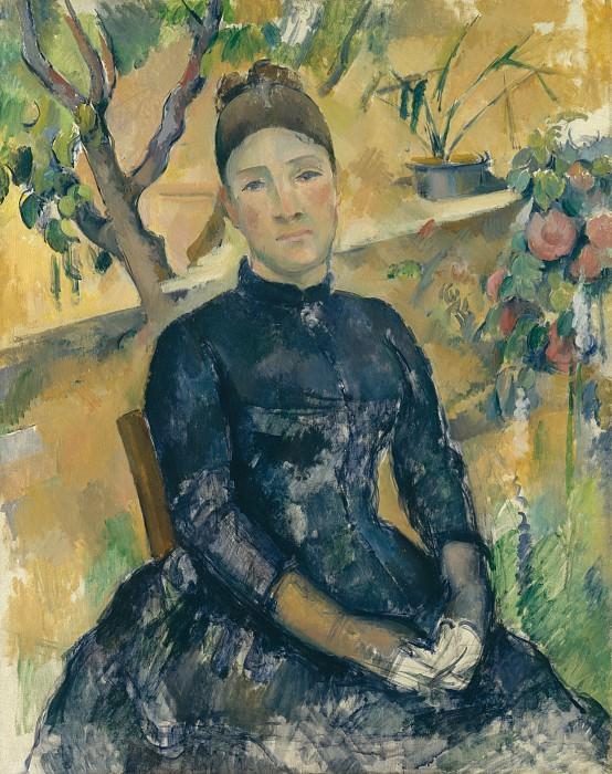 Paul Cézanne - Madame Cézanne (née Hortense Fiquet, 1850–1922) in the Conservatory. Metropolitan Museum: part 4