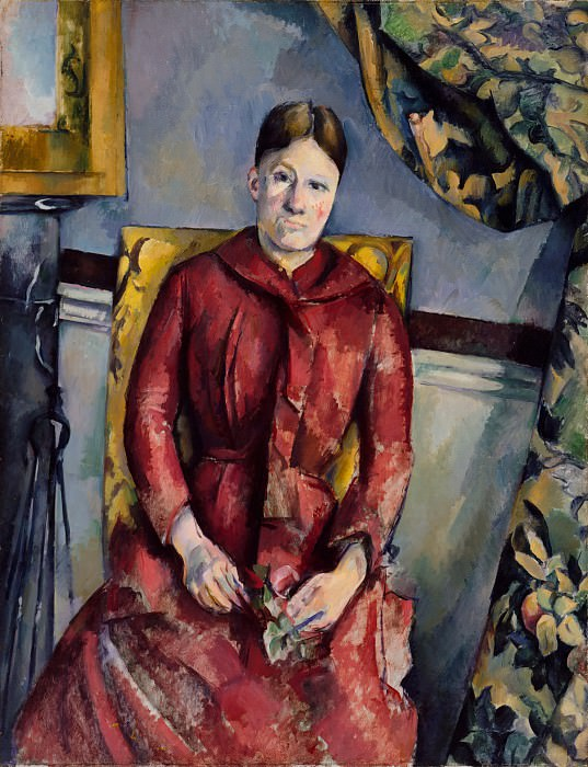 Paul Cézanne - Madame Cézanne (née Hortense Fiquet, 1850–1922) in a Red Dress. Metropolitan Museum: part 4
