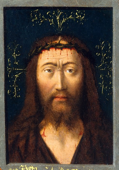 Petrus Christus - Head of Christ. Metropolitan Museum: part 4