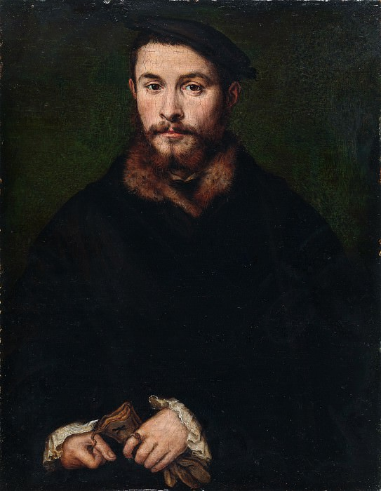 Corneille de Lyon - Portrait of a Man with Gloves. Metropolitan Museum: part 4