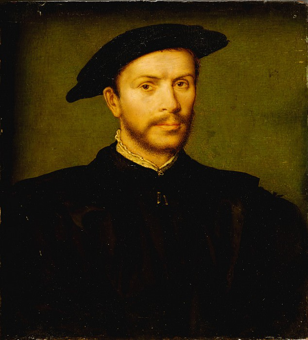 Attributed to Corneille de Lyon - Portrait of a Bearded Man in Black. Metropolitan Museum: part 4