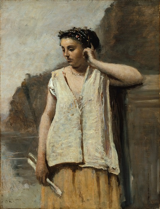 Camille Corot - The Muse: History. Metropolitan Museum: part 4