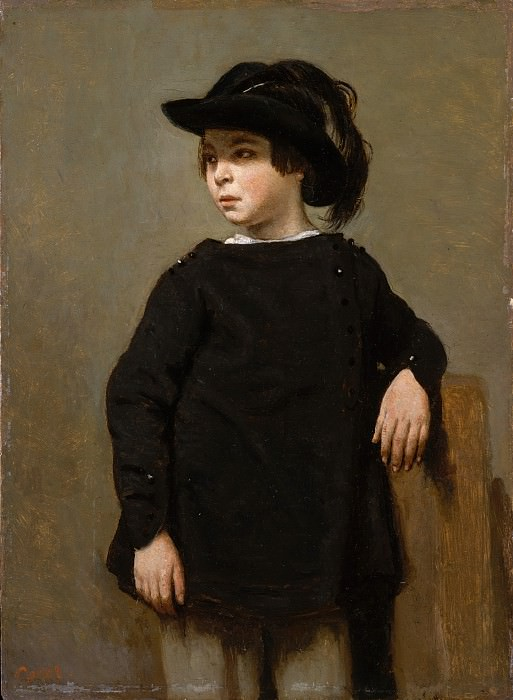 Camille Corot - Portrait of a Child. Metropolitan Museum: part 4