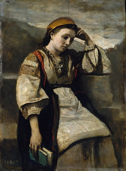Camille Corot - Reverie. Metropolitan Museum: part 4