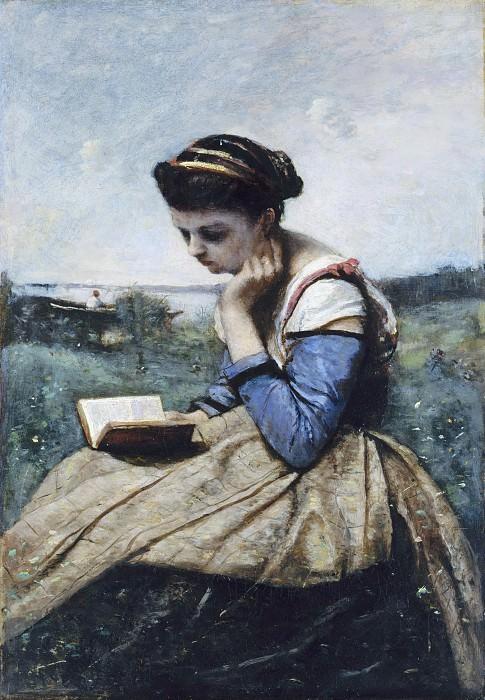 Camille Corot - A Woman Reading. Metropolitan Museum: part 4