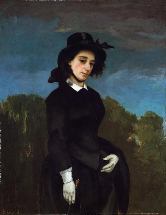 Gustave Courbet - Woman in a Riding Habit (L'Amazone). Metropolitan Museum: part 4