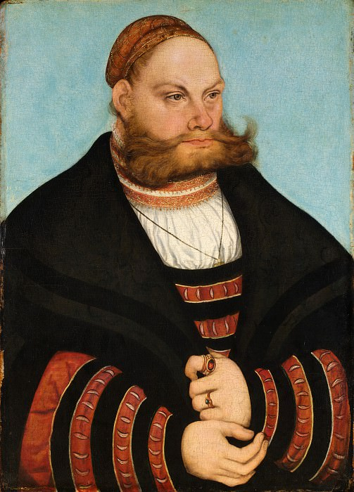 Lucas Cranach the Elder - Portrait of a Man with a Gold-Embroidered Cap. Metropolitan Museum: part 4