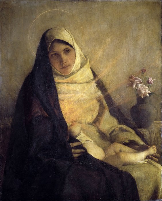 Pascal-Adolphe-Jean Dagnan-Bouveret - Madonna of the Rose. Metropolitan Museum: part 4