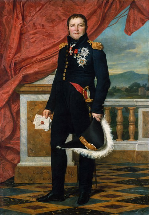 General Étienne-Maurice Gérard (1773–1852), Marshal of France. Jacques-Louis David