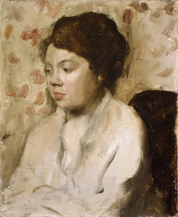 Edgar Degas - Portrait of a Young Woman. Metropolitan Museum: part 4