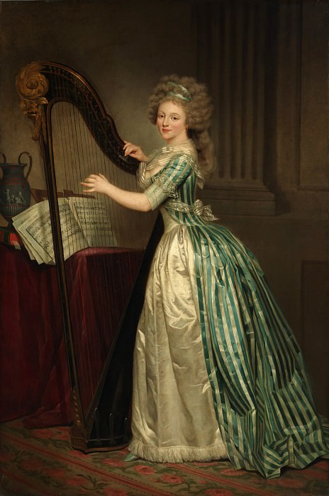 Rose Adélaïde Ducreux - Self-portrait with a Harp. Metropolitan Museum: part 4