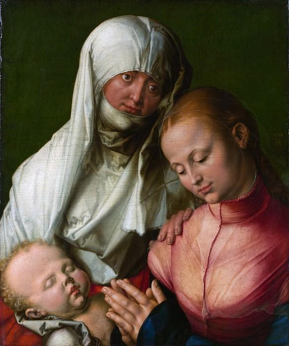 Virgin and Child with Saint Anne (and workshop). Albrecht Dürer