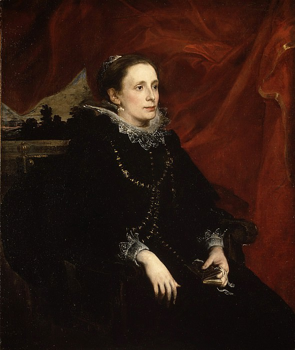Anthony van Dyck - Portrait of a Woman, Called the Marchesa Durazzo. Metropolitan Museum: part 4