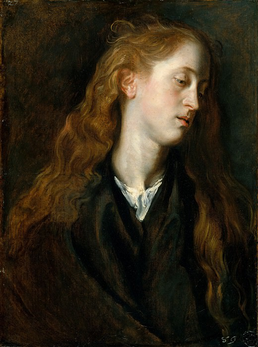 Anthony van Dyck - Study Head of a Young Woman. Metropolitan Museum: part 4