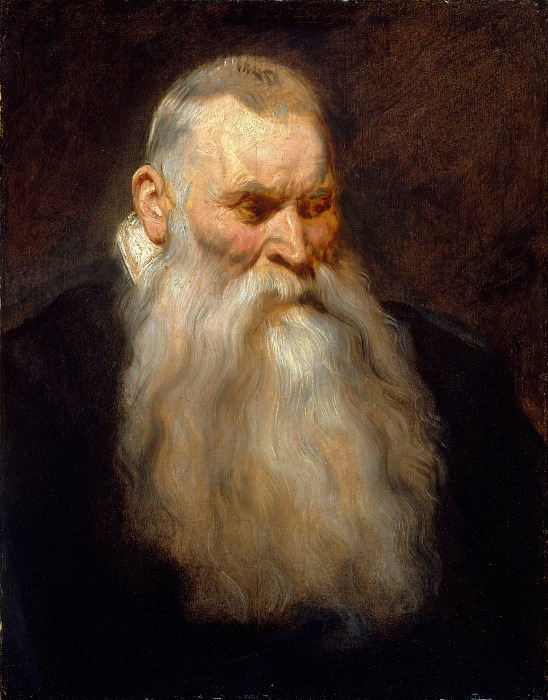 Anthony van Dyck - Study Head of an Old Man with a White Beard. Metropolitan Museum: part 4