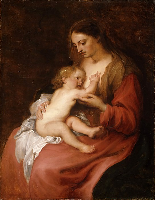 Anthony van Dyck - Virgin and Child. Metropolitan Museum: part 4