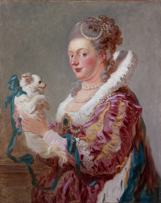 A Woman with a Dog. Jean Honore Fragonard