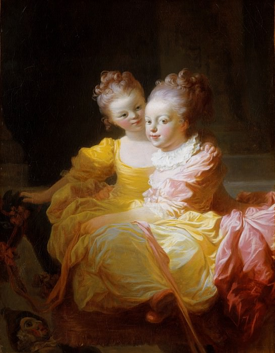 The Two Sisters. Jean Honore Fragonard