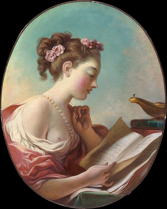 Jean Honoré Fragonard - Young Woman Reading. Metropolitan Museum: part 4