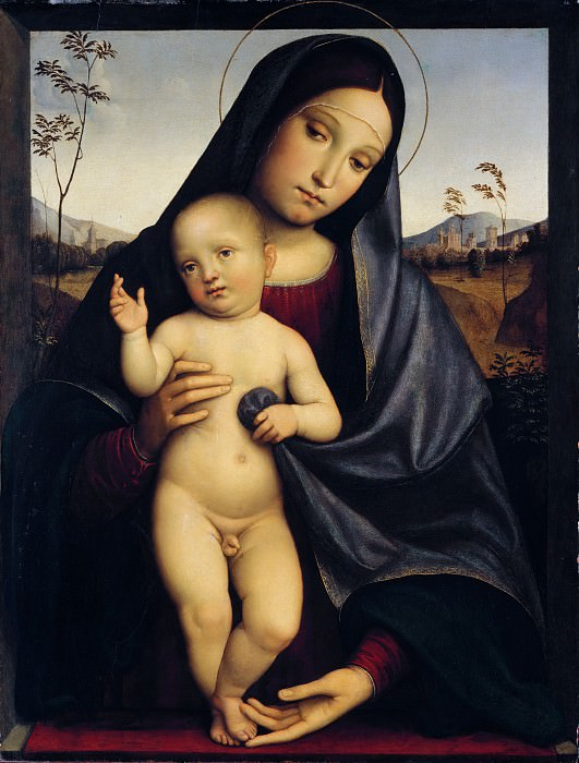Francesco Francia - Madonna and Child. Metropolitan Museum: part 4