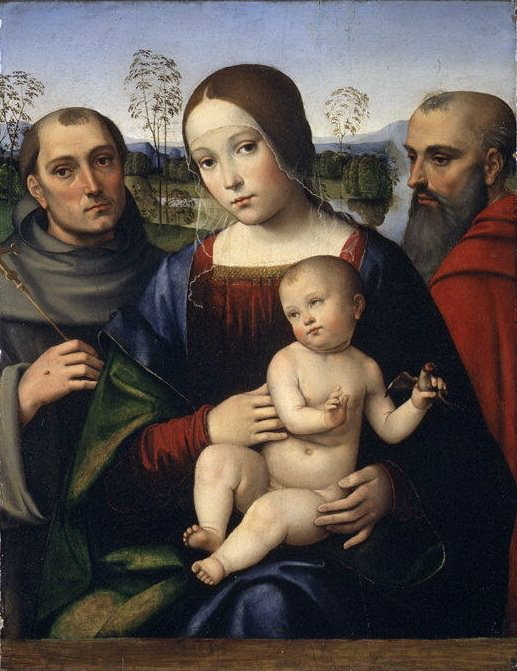 Francesco Francia - Madonna and Child with Saints Francis and Jerome. Metropolitan Museum: part 4