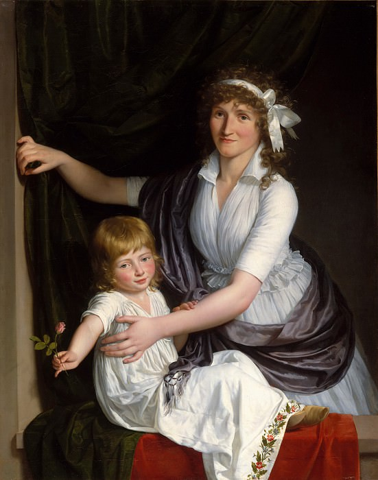 French Painter, about 1795–98 - Portrait of a Woman and Child. Metropolitan Museum: part 4