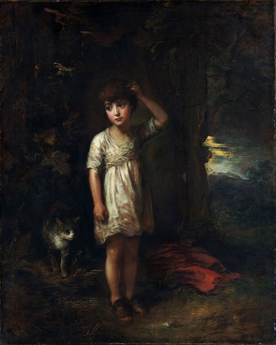 Thomas Gainsborough - A Boy with a Cat—Morning. Metropolitan Museum: part 4