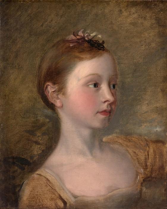 Copy after Thomas Gainsborough - The Painter's Daughter Mary (1750–1826). Metropolitan Museum: part 4