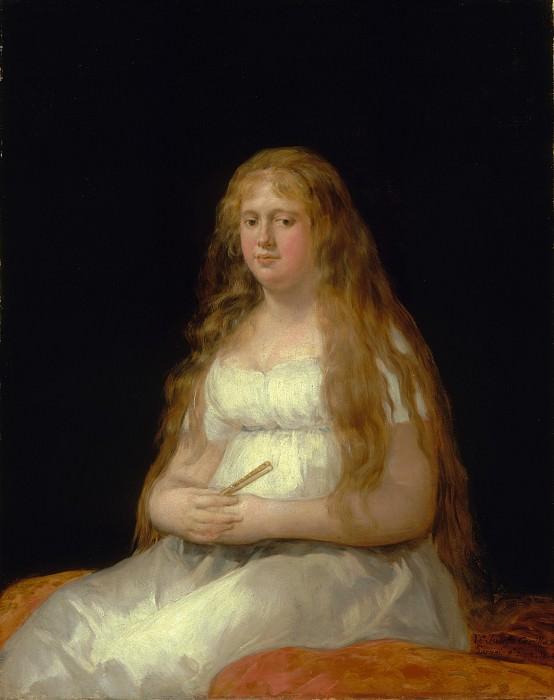 Goya (Spanish, Fuendetodos 1746–1828 Bordeaux) - Josefa de Castilla Portugal y van Asbrock de Garcini (1775–about 1850). Metropolitan Museum: part 4