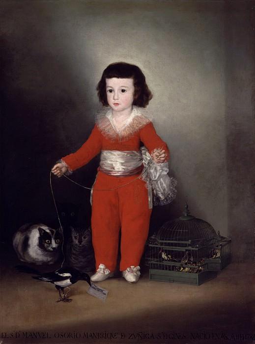 Goya (Spanish, Fuendetodos 1746–1828 Bordeaux) - Manuel Osorio Manrique de Zuñiga (1784–1792). Metropolitan Museum: part 4