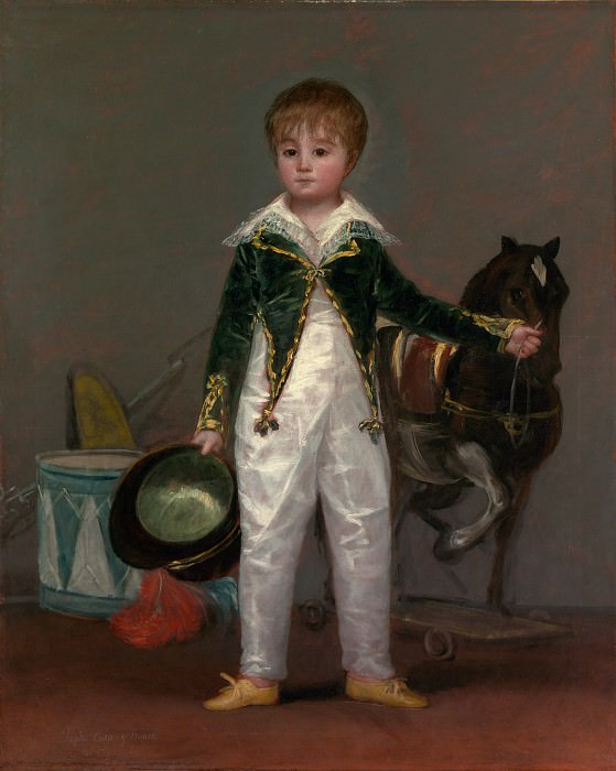 Goya (Spanish, Fuendetodos 1746–1828 Bordeaux) - José Costa y Bonells (died l870), Called Pepito. Metropolitan Museum: part 4